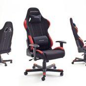 DXRacer 1, Gaming Stuhl, Stoffbezug schwarz / rot - 2