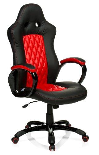 HJH OFFICE Gaming Stuhl/ Kunstleder schwarz/rot
