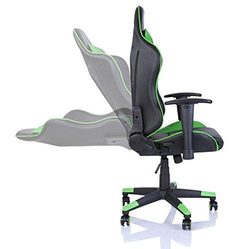 6 Verstellbare Rückenlehnehellgrün In Racing Drehstuhl Stuhl FarbvariantenWippmechanikStufenlos Gaming 6y7Ybvfg