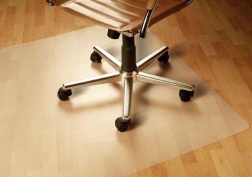 Floordirekt PP – 8 Größen zur Wahl – Budget Bodenschutzmatte semitransparent mit TÜV für Hartböden (90 cm x 120 cm)