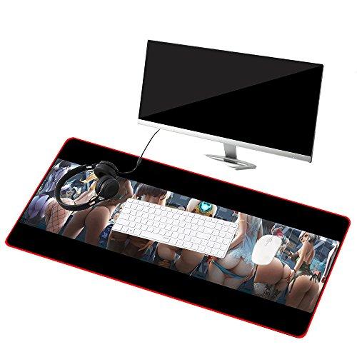 Befitery Gaming Mauspad XXL Rutschfeste Schreibtischunterlage Mausunterlage für Computer PC Laptop 900 x 400 x 2 mm (Sexy Lady)