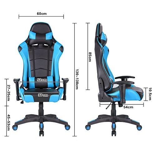 Stuhl Chefsessel Racing Mit Imwh Computerstuhl Gaming ergonomischer Einstellbaren Drehstuhl Hochwertiger Höhenverstellbar Bürostuhl Schreibtischstuhl dsQthr