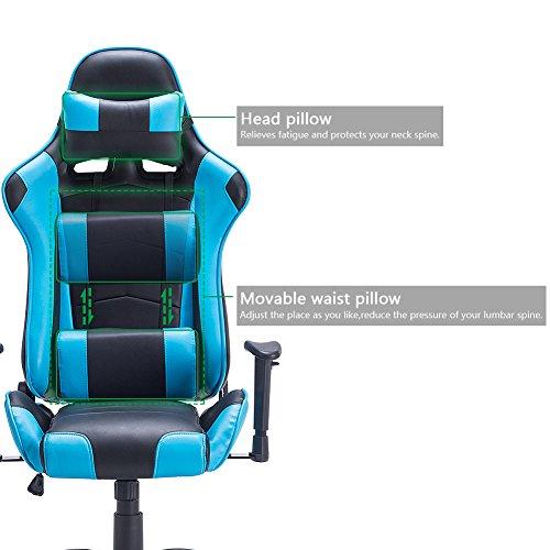 Stuhl Schreibtischstuhl ergonomischer Computerstuhl Einstellbaren Mit Gaming Racing Hochwertiger Drehstuhl Imwh Höhenverstellbar Chefsessel Bürostuhl qA3j5L4R
