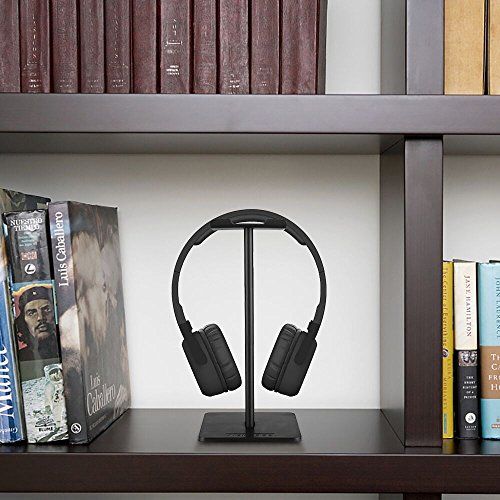 Kopfhörer Ständer, New Bee Universal Kopfhörerhalter für Over Ear Kopfhörer Sennheiser, Sony, Audio-Technica, Bose, Shure, AKG, Gaming Headset und Kopfhörerdisplay, aus Aluminium + TPU + ABS , Schwarz