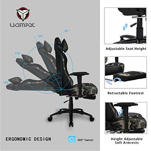 Uomax Gaming Stuhl Egonomischer Gaming Drehstuhl F 252 R Gamer